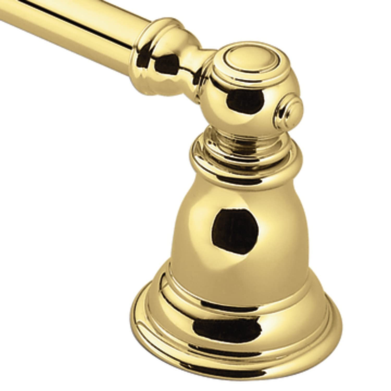 Moen YB5418PB Kingsley 18 in. Towel Bar, Polished Brass - Moen ...