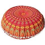 Caso di Cuscino Boemo,Kword Grande Mandala Pavimenti Cuscini Di Meditazione Rotonda Cuscino Di Yoga Pouf Copertina