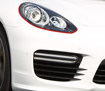 Devil Eye Style protector de pantalla de Finest Folia Stripe Faro para Porsche Panamera 4S G1 GTS Turbo S: Amazon.es: Coche y moto