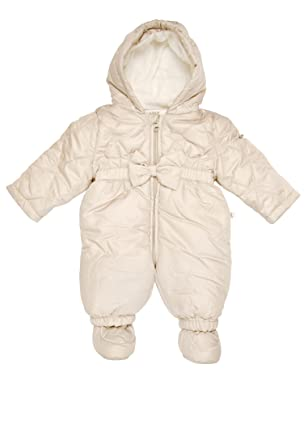 7e16a6796 Amazon.com: KANZ Baby Baby Girls' Newborn Snowsuit with Hood, Gray ...