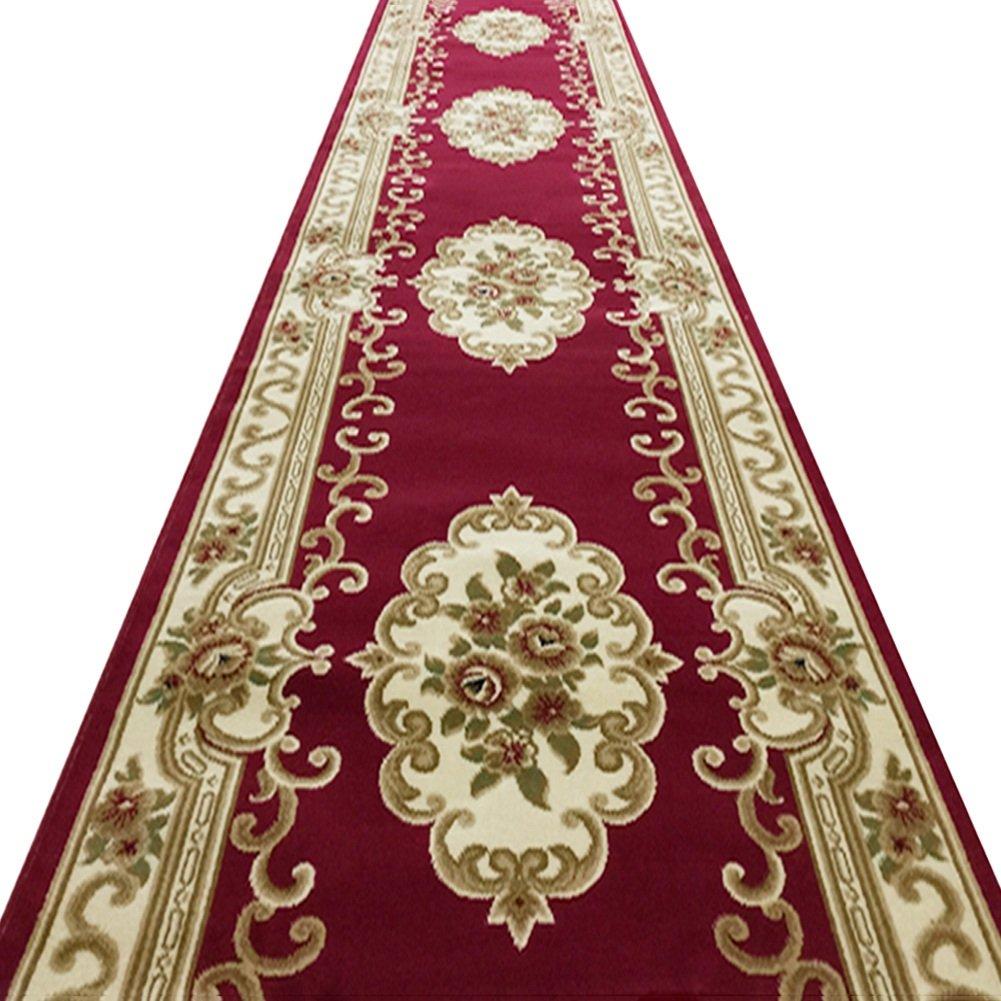 カーペット 廊下ランナー敷物 - 厚いカーペット高密度ポリプロピレンコットンリネン織り裏地ノンスリップ/厚さ12mm / 4色 (色 : 40センチメートル-24ワット, サイズ さいず : 1m x 5m) B07J4451YV 40センチメートル-24ワット 1m x 5m