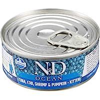 N&D Cat Ocean Ton Balığı, Morina,Karides & Balkabağı Kıtten 80 Gr