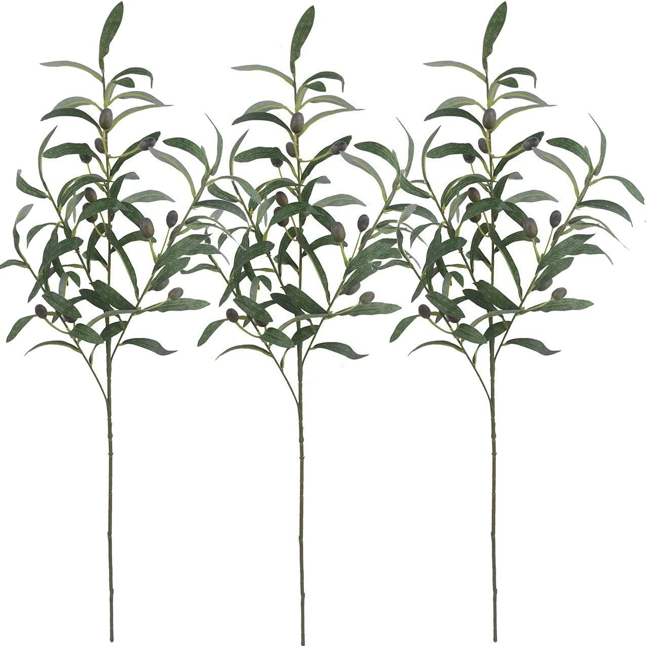"""Warmter 28"""" Artificial Olive Branches Plants Blackish Green Olives Fruit Artificial Greenery UV Resistant Plants Artificial Plant for Indoor Outside Decor"""