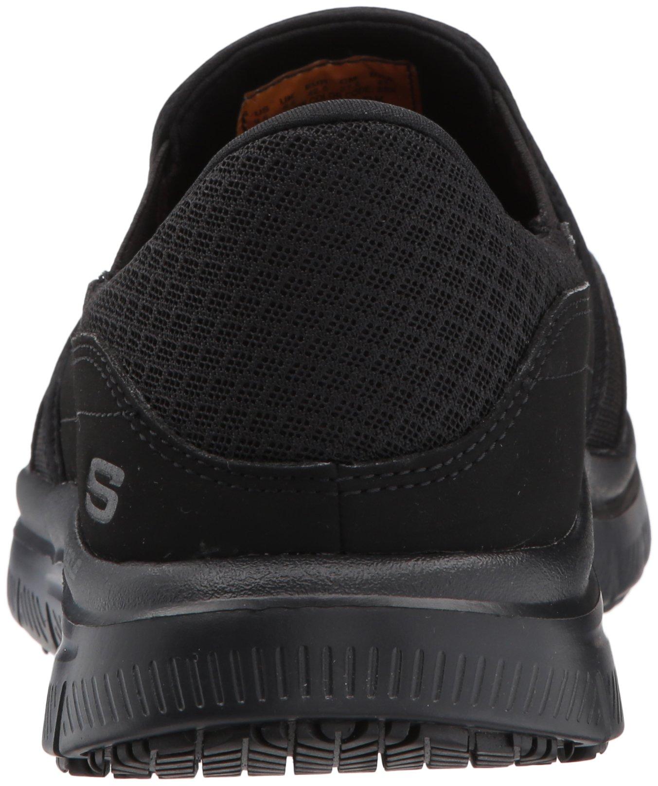 21ebd90181a9 Skechers Men s Black Flex Advantage Slip Resistant Mcallen Slip On - 9 3E -  Extra Wide - 77048EW-7-9 Extra Wide US   Health Care   Food Service    Clothing