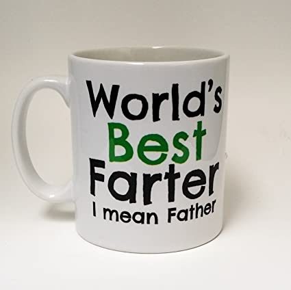 Worlds Best Farter Mean Father Dad Mug Birthday Coffee Gift For First Fathers Day By The T Bird Amazoncouk Kitchen Home