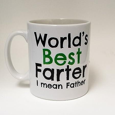 Worlds Best Farter Mean Father Dad Mug Birthday Coffee Gift