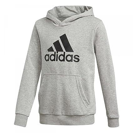 adidas Yb Logo Hood Camiseta, Niños, Brezo Gris intermedio, 110
