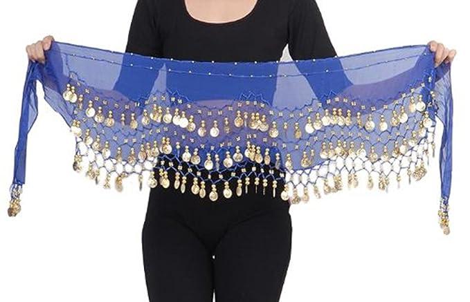 Bauchtanz Kostüm Fasching Münzgürtel Hüfttuch Belly Dance 8 Farben DE