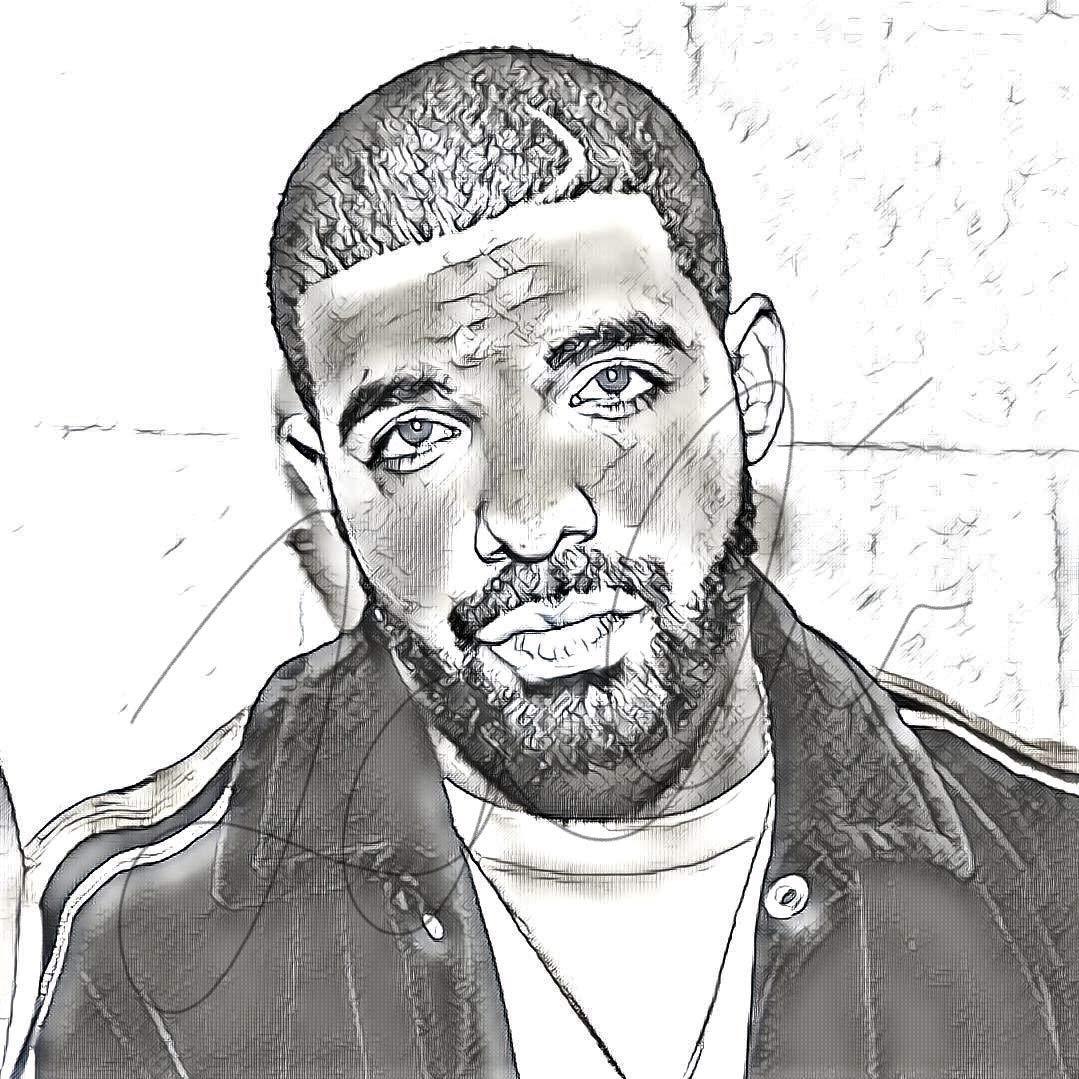 45b408a9a0fee Amazon.com  Drake Sketch Drawing Print Poster Hand Drawn Pencil Rapper   DRAKE SKETCH3  Handmade