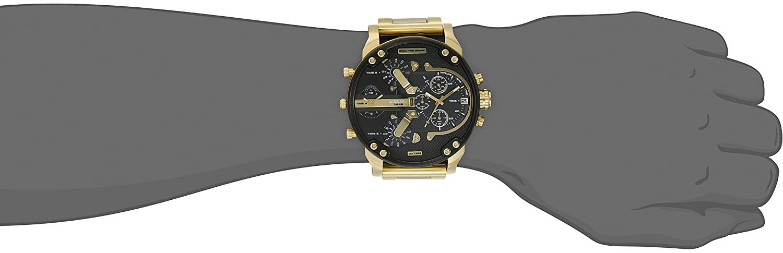 197c2d517a44 Amazon.com  Diesel Men s Mr Daddy 2.0 Quartz Stainless Steel Chronograph  Watch