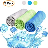 3-Pack Niolio Cooling Towel for Sports Fitness Yoga Pilates