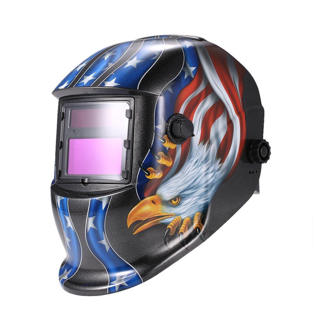 KKmoon ARC TIG Mig Grinding Eagle, Máscara de Soldador de Oscurecimiento Automático Solar, Negro