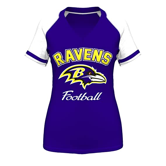 Amazon.com   Baltimore Ravens Womens Go For Two IV Purple V-Neck T-shirt  X-Large   Sports Fan T Shirts   Sports   Outdoors b05cc8b83