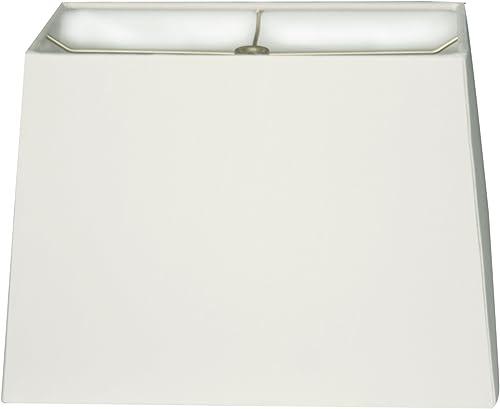 Royal Designs HB-613-18WH Rectangle Hard Back Lamp Shade, White, 8 x 16 x 10 X 18 x 12