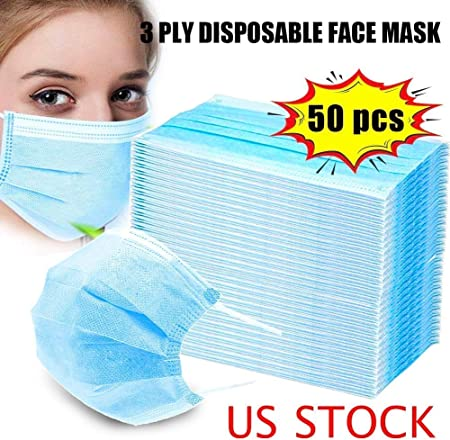 disposable 3-ply earloop face masks