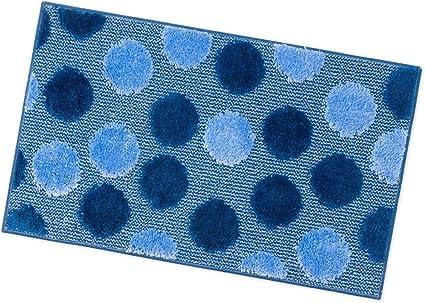 Tappeto Bagno Camera Antiscivolo 100/% Made in Italy Varie Misure Shaggy Moderno Scendi Doccia Assorbente MOD.iOS PARURE Set 3 Pezzi Azzurro