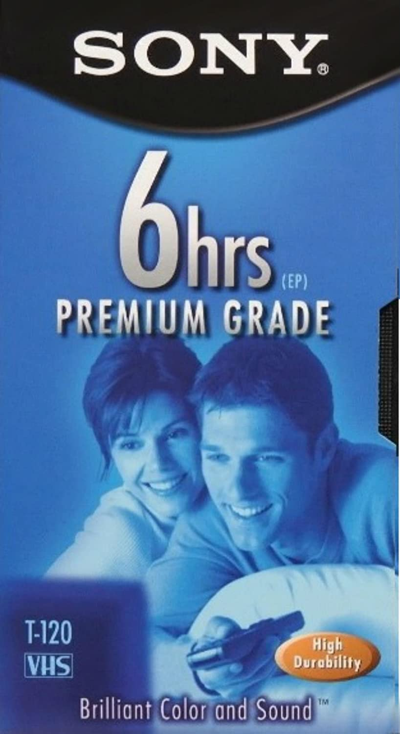 3-Pack EP T-120 VHS Tapes SONY 3T120VR 6hrs