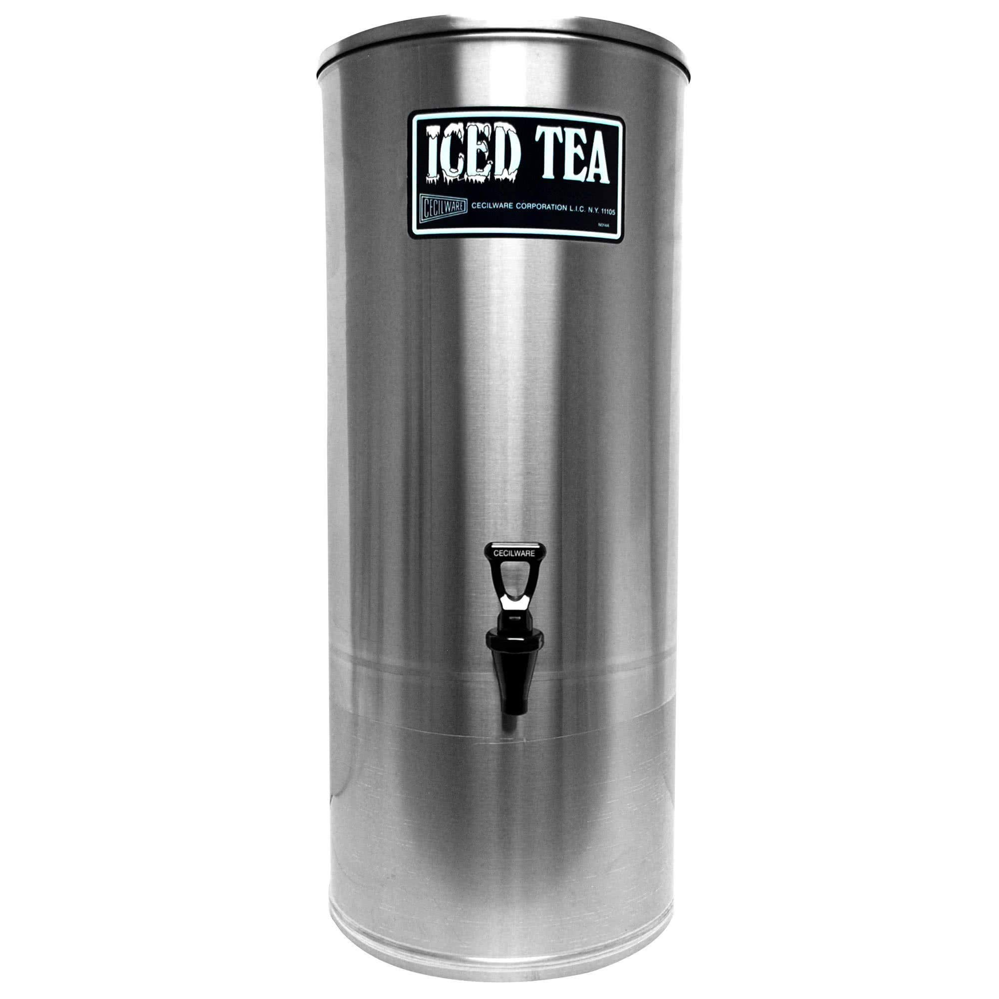 Cecilware S Series S5 5 Gallon Stainless Steel Iced Tea Dispenser