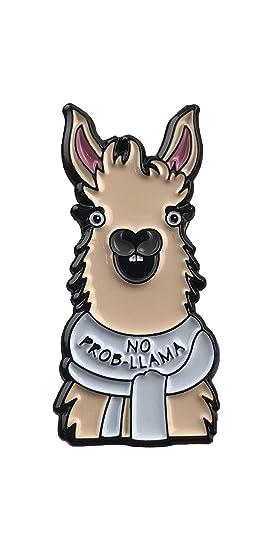 Llama Enamel Pin No Prob Llama