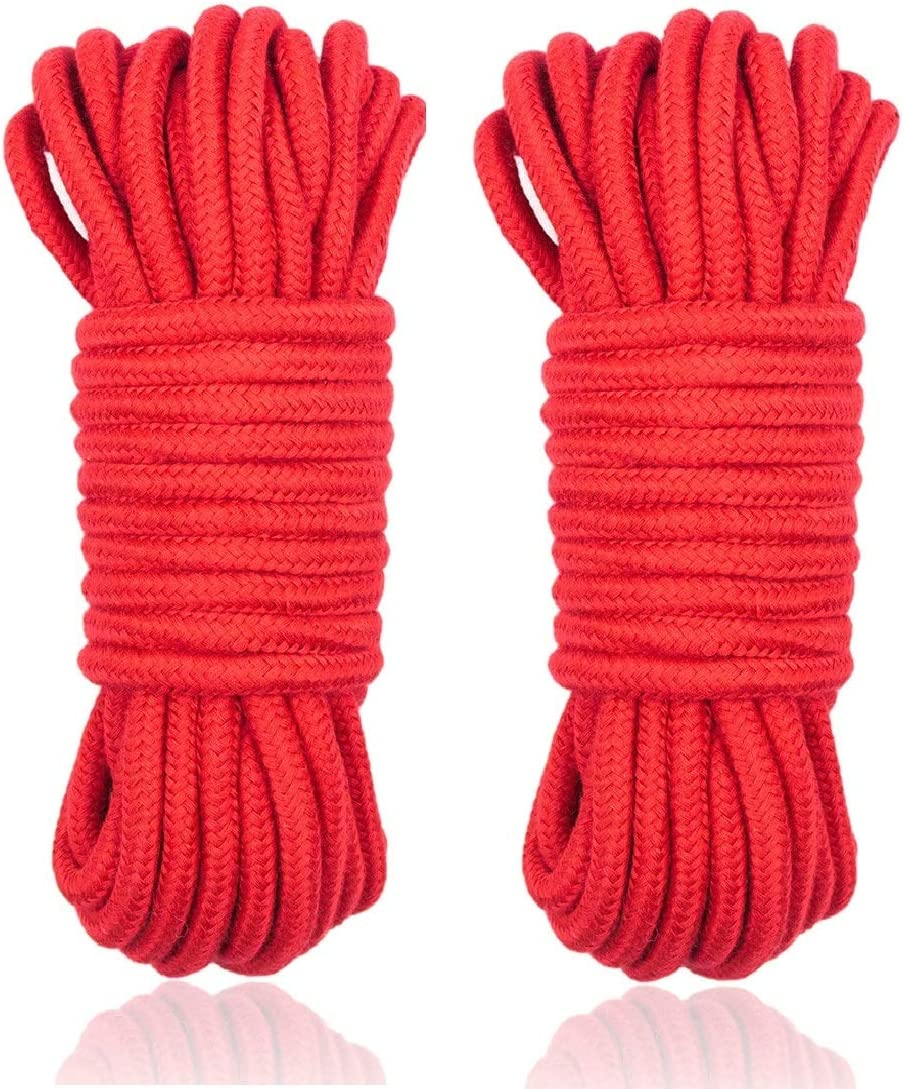 Pink 32 feet 10 m Natural Durable Long Rope Multifunction Soft Cotton Rope