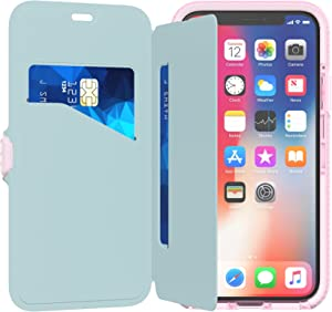 Tech21 Evo Wallet Phone Case for Apple iPhone X/Xs - Pink
