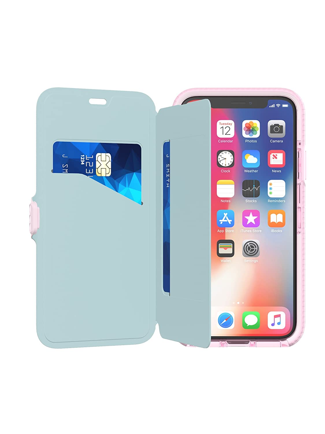 check out 3617c f177f Tech21 Evo Wallet for iPhone X - Pink