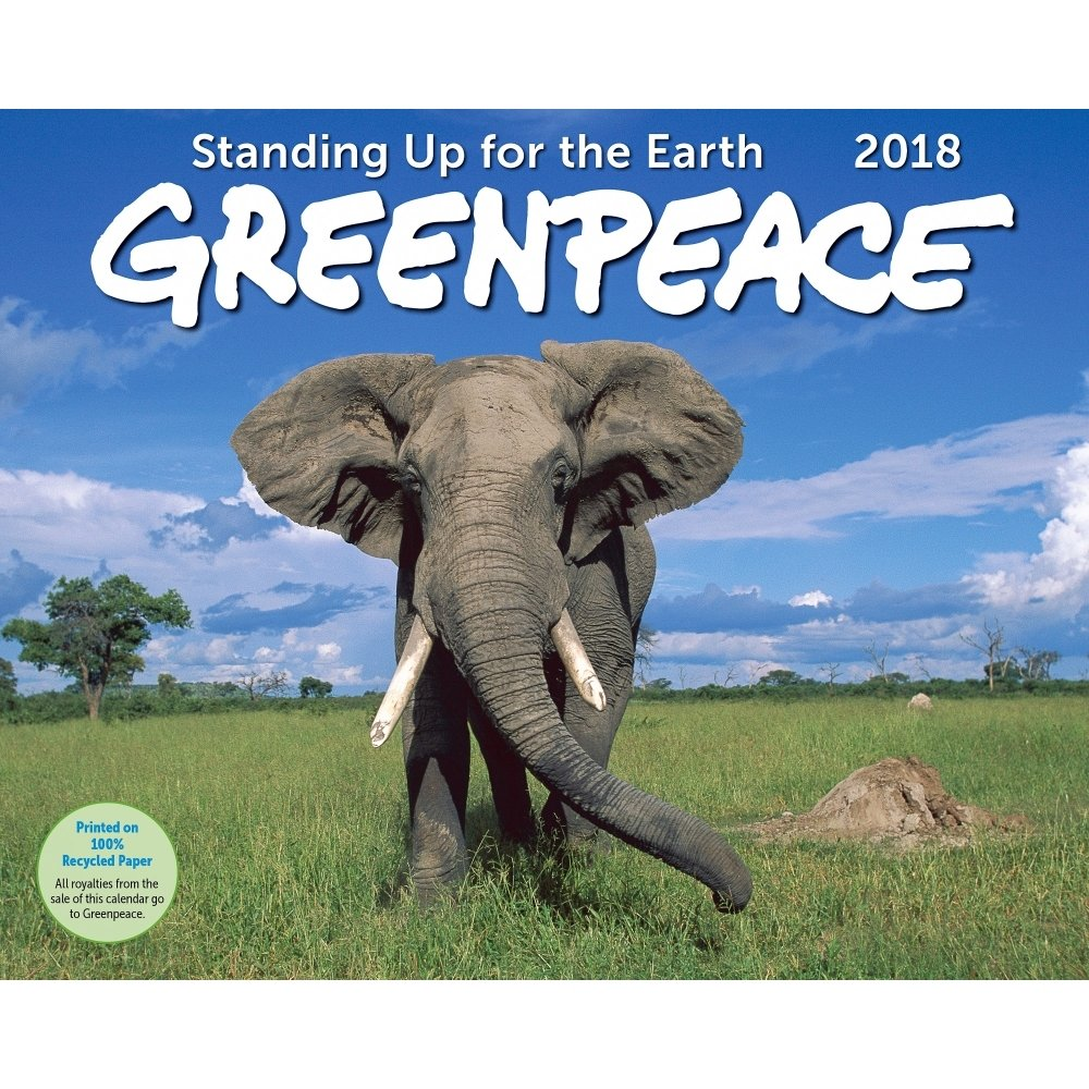 amazoncom greenpeace wall calendar 2018 office products