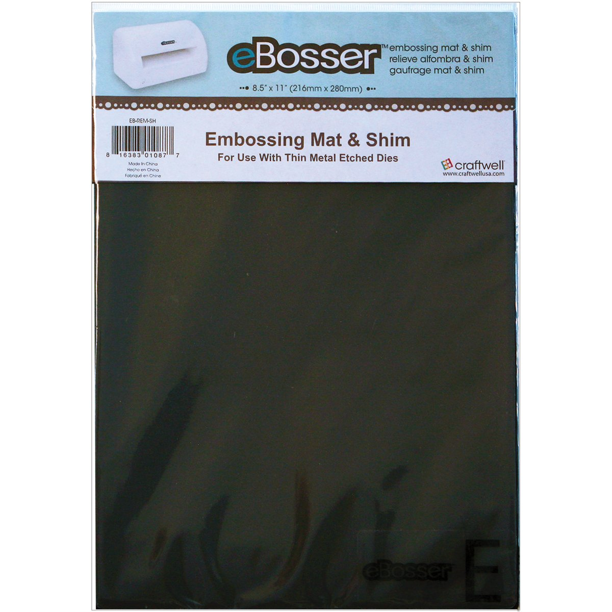 Craftwell USA Magnetic Shim and Rubber Embossing Mat Set