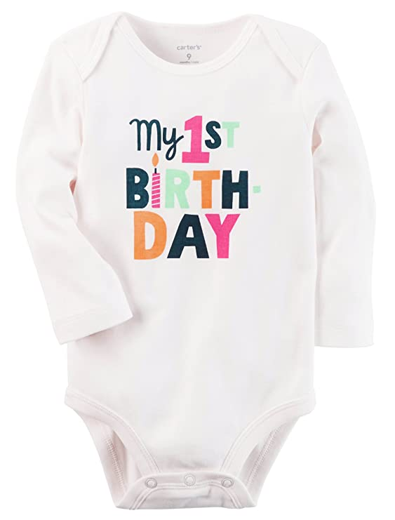 Amazon Carters My First Birthday Bodysuits Clothing