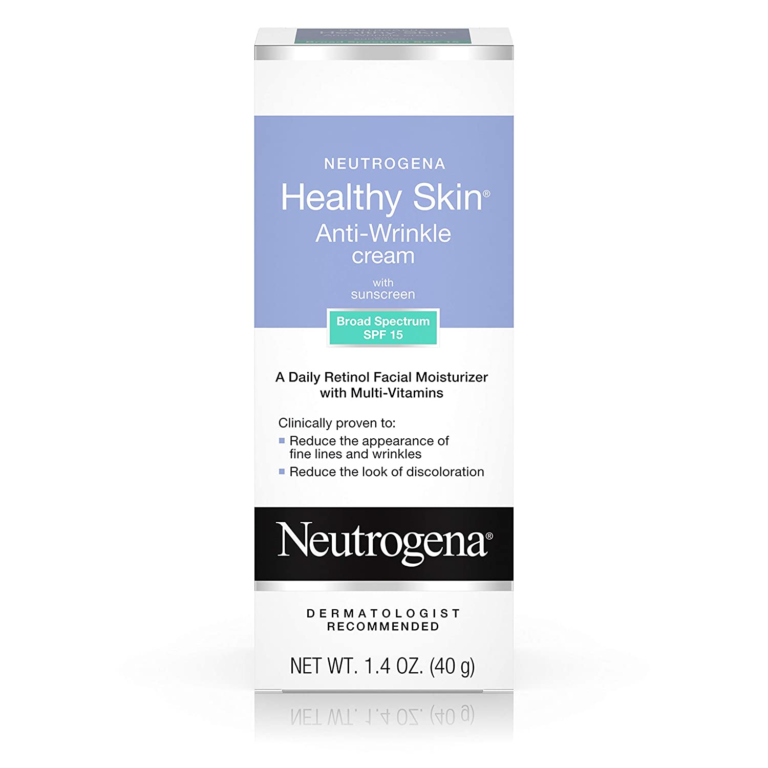 NEUTROGENA Healthy Skin Anti-Wrinkle Cream SPF15, Original Formula 1.4 oz (Pack of 3)