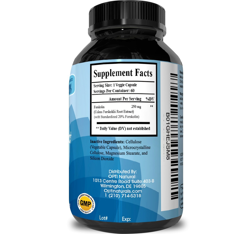 Pure forskolin 500 mg
