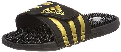 competitive price 0c23e d5e9d adidas Adissage, Chaussures de Plage   Piscine Homme, Noir Gold MT cblack,