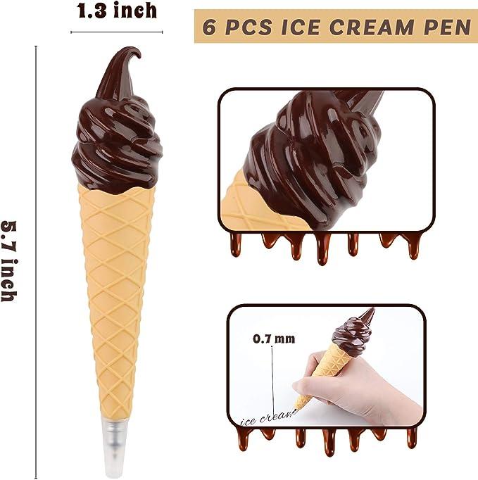 Fashion 4pcs Ice Cream Cone Collectible Ball Pen Gift