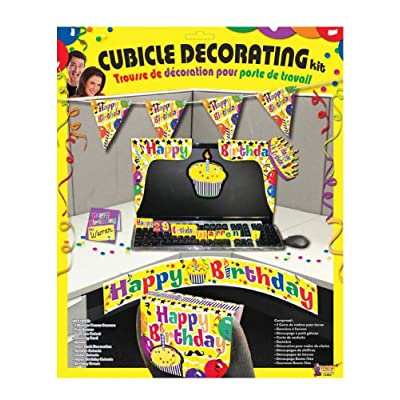 Forum Novelties Happy Birthday Cubicle Décor, Multicolor: Toys & Games