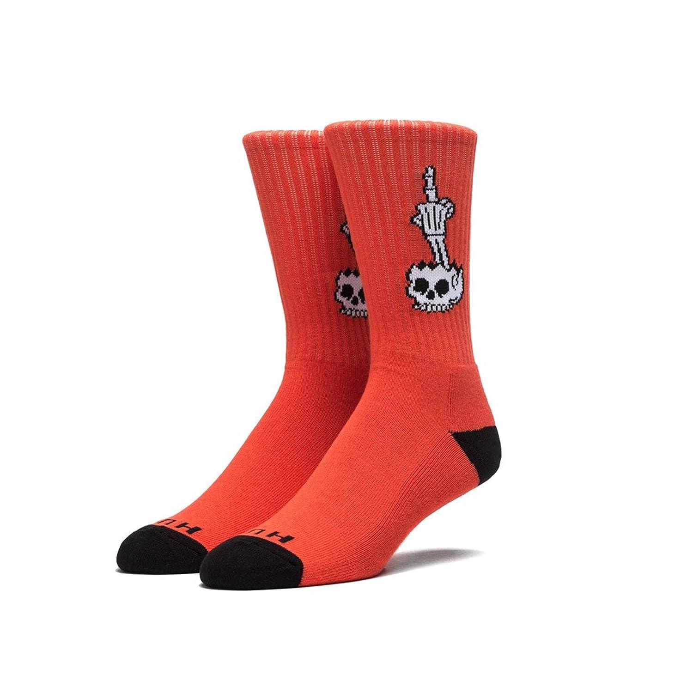 HUF Men's HUF x Todd Francis Fhead Crew Socks One Size Orange-Red-Black