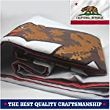 VSVO California Republic Bear State Flag 3 x 5 ft. with 2-Sided Embroidered for Outside- Sewn Stripes - Brass Grommets - UV Protection-Californian CA State Flags