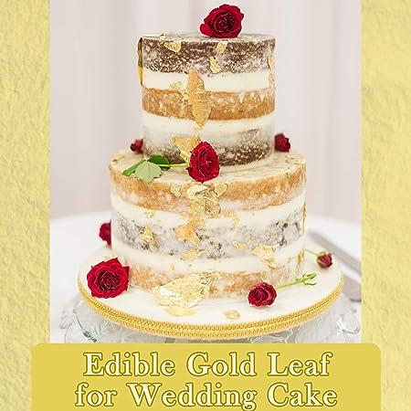IYARA 30 Edible Leaf Sheets – Multipurpose 24 Karat Yellow Gold Leaves for  Food and Cake Decoration, Spa Anti-Wrinkle Face Masks, Art, Crafts,