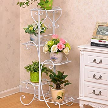 amazon com iron white plant flower pot stands office bedroom