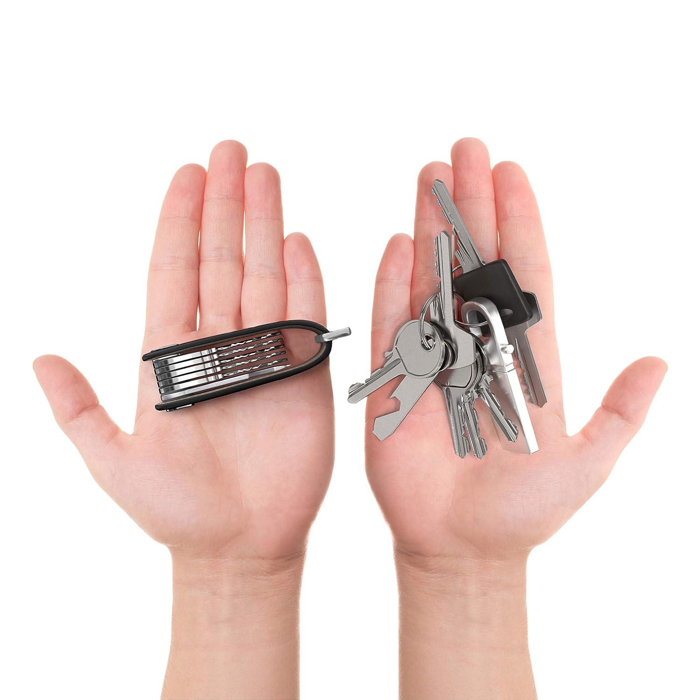 Portachiavi pelle portatile Organizer della ThorKey 100/% Pelle Vera Strumento di Apertura Multifunzione Incluso Contiene fino a 10 chiavi