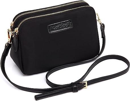 Noir Pour Femme En Cuir Sac à main sac à main avec Téléphone Portable Pochette Femmes Sac Bandoulière