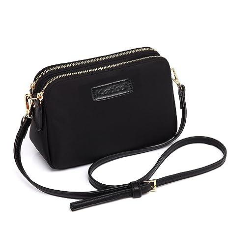 a111e242ddd Katloo Shoppers y Bolsos de Hombro Bandolera Nylon Mujer Bolsos de Mujer  Negros Bolsos Pequeños de
