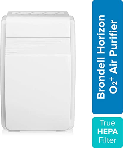 Brondell Horizon O2 Air Purifier P200, 5 Stage Filtration System with True HEPA Filter and Intelligent Ion Technology Dust, Mold, Smoke, and Allergy Relief, 560sf – CARB Certified
