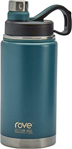 Rove Stainless Steel Unlimited Water Bottle Collection- Double Wall Vacuum Insulated Leak Proof, 42 Ounce Unlimited Water Bottle (Dark Teal)