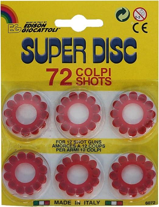 Edison Giocattoli Pack de 5 blísteres de 72 petardos para Pistola ...