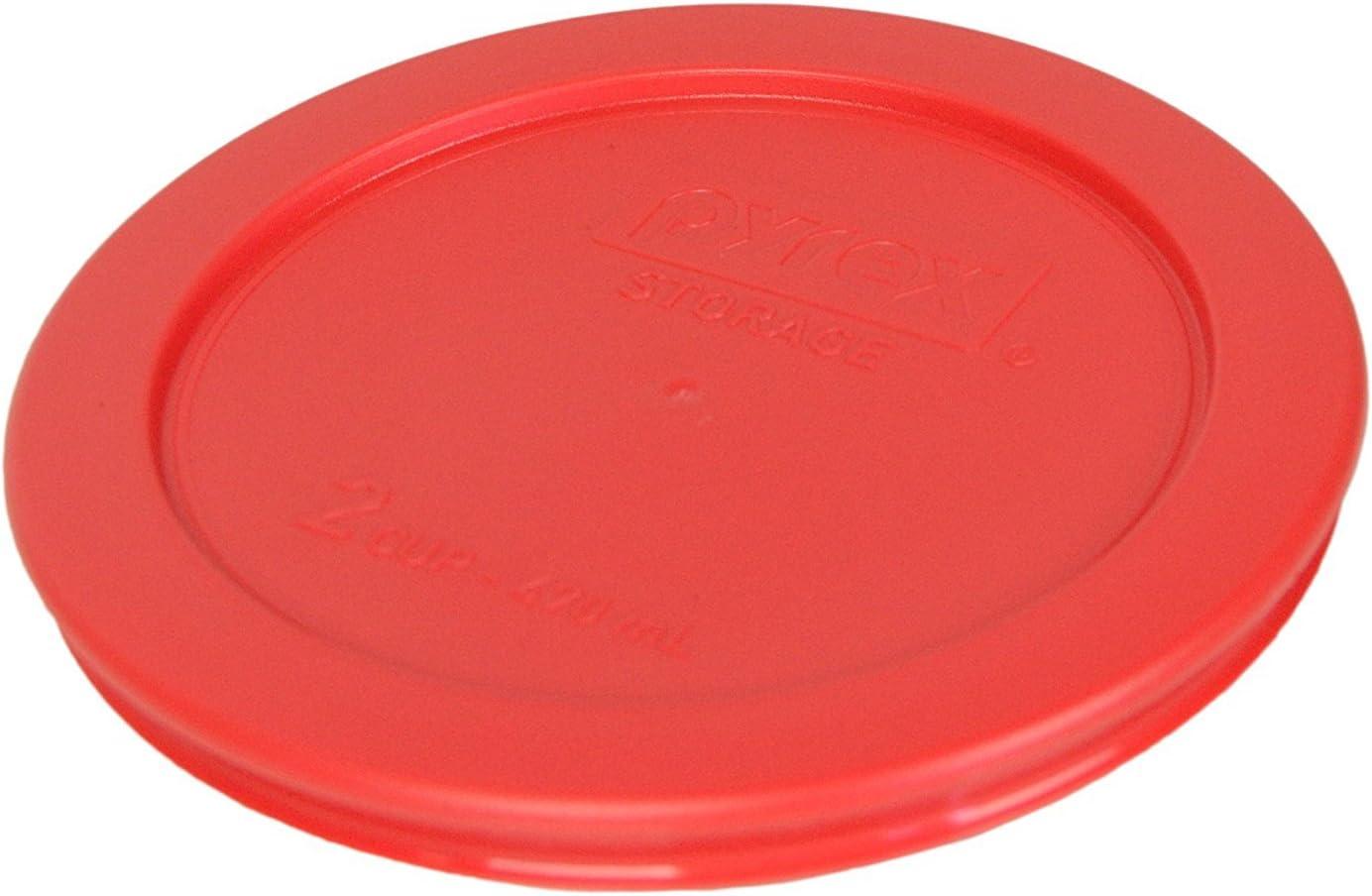 4, Orange Pyrex 7200-PC Round 2 Cup Storage Lid for Glass Bowls 1, Orange