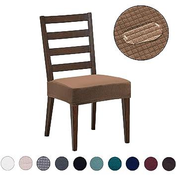 Amazon.com: Fundas para sillas de comedor, repelente al agua ...