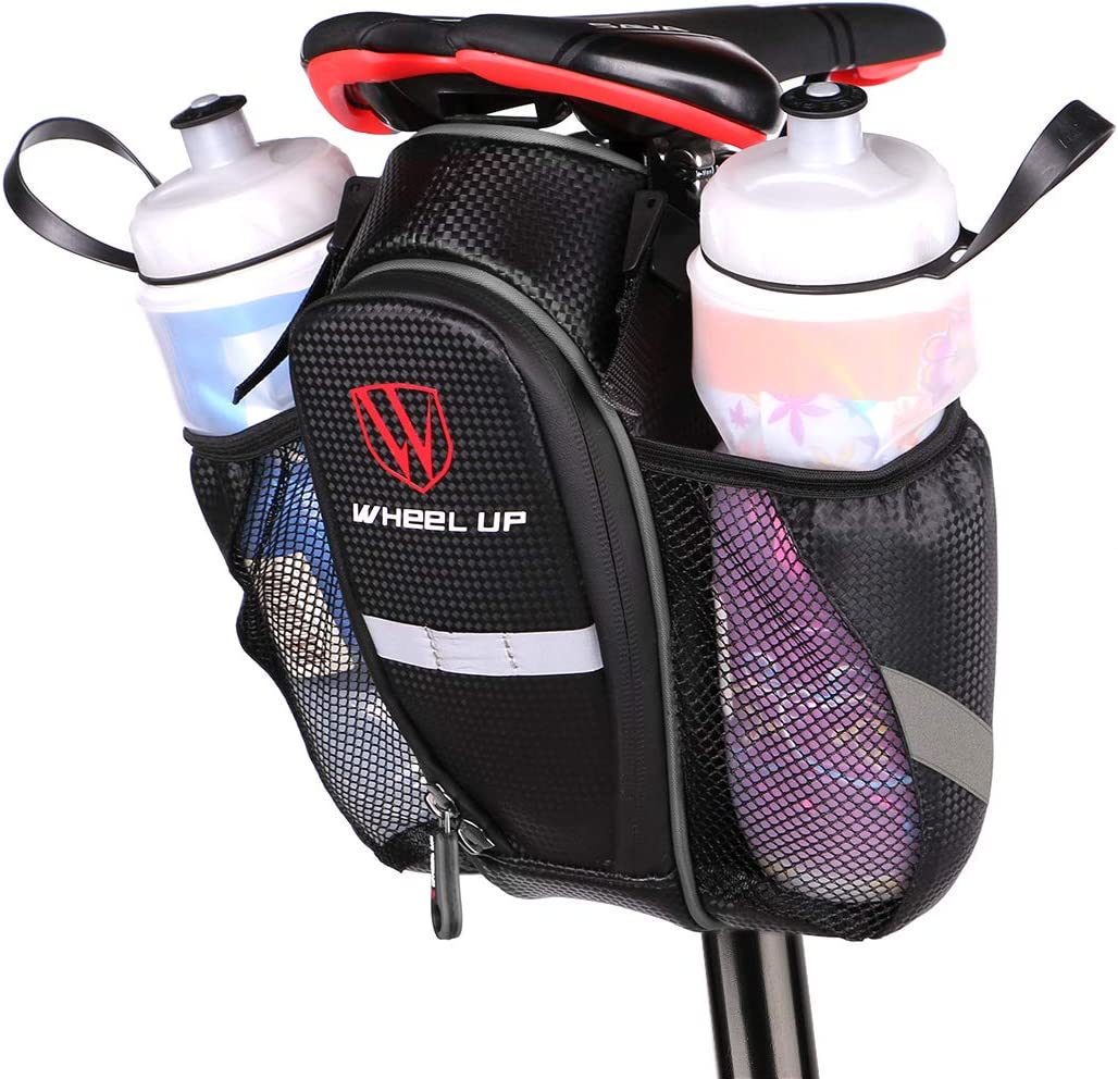 WATERFLY Bike Saddle Bag Waterproof Bike Seat Bag Pouch Water Bottle Holder Mountain Road Bike
