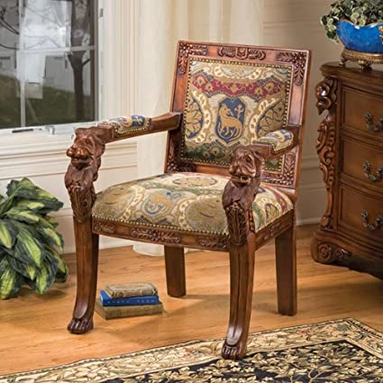 Tremendous Amazon Com Ornate Armchair Chaise Lounge Chair Upholstered Creativecarmelina Interior Chair Design Creativecarmelinacom