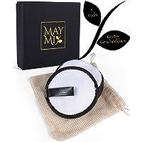 MayMi 5er Pack Mikrofaser Abschminkpads mit Wäschebeutel waschbar 10cm weiss - Abschminktücher wiederverwendbar abschminken waschbare Reinigungstücher Zero Waste