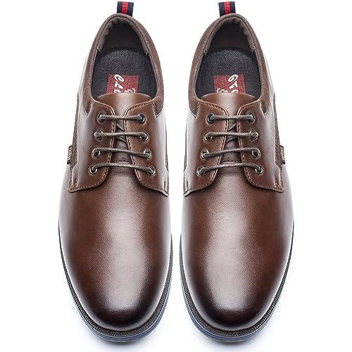 Zapatos de Cordones Business Hombre - Zapatos Oxford Casual, Adecuado para El Trabajo y el Uso Diario, Zapatos Derbies Hombre Cuero Imitación, ...